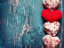 Sweet  valentines day background